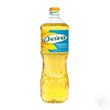 Oleina Traditional Refined Sunflower Oil 850ml - buy, prices for Auchan - image 1