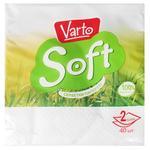 Varto Soft Table White 24x24 Two-layer Napkins 40pcs