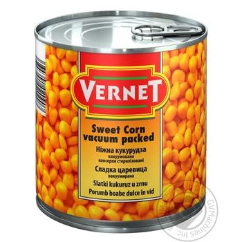Кукуруза Vernet нежная 425мл - купить, цены на Novus - фото 1