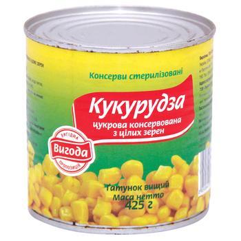 Кукуруза Выгода сахарная консервированная 420г - купить, цены на Varus - фото 1
