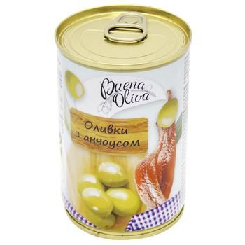 Buena Oliva Pitted Green Olives with Anchovies 314ml - buy, prices for Furshet - image 1