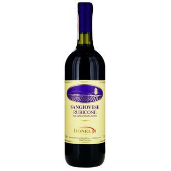 Вино Donelli Sangiovese красное сухое 11% 0,75л