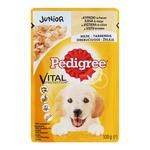Pedigree for puppies in jelly with rice and chicken food 100g