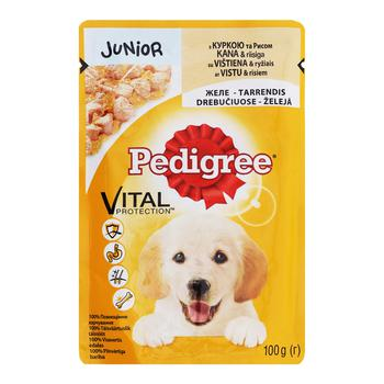 Pedigree for puppies in jelly with rice and chicken food 100g - buy, prices for CityMarket - photo 1