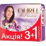 Мило Duru Floral Sensations Бузков./квітка та мол/прот 3+1*90г