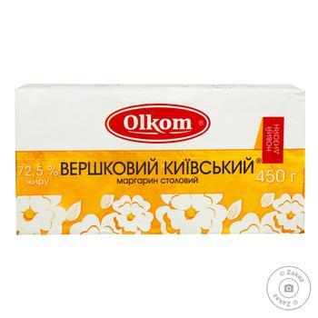 Маргарин Олком Сливочный Киевский 72.5% 450г - купить, цены на Ашан - фото 1