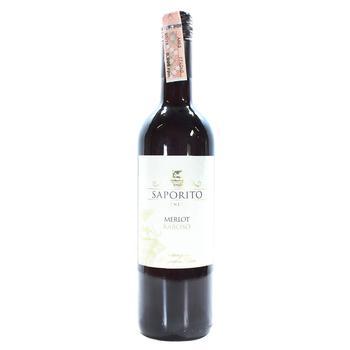 Вино Saporito Merlot-Raboso Veneto IGT красное полусухое 11,5% 0,75л