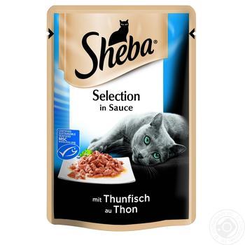 Корм Sheba Selection для котов с тунцом в соусе 85г - купить, цены на Ашан - фото 2
