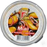 Seafood mussles Flagman with onion in oil 200g