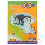 Картон ZiBi Kids Line белый А4 10 листов 235г/м2 - купить, цены на Ашан - фото 1