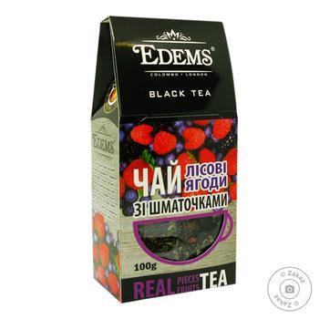 Чай черный Edems лесные ягоды 100г - купить, цены на Фуршет - фото 1