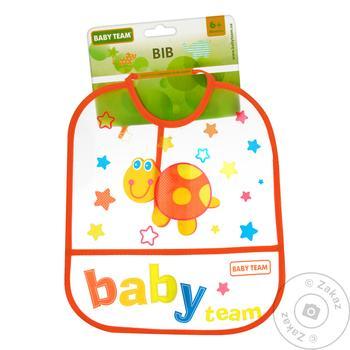 Нагрудник Baby Team влагонепроницаемый - купить, цены на Метро - фото 1