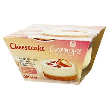 Десерт Creamoire Чизкейк с клубничным соусом 100г