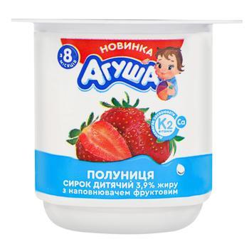 Сырок Агуша Детский Клубника с 8 месяцев 3,9% 100г - купить, цены на Фуршет - фото 1