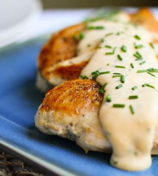 Курица в сырном соусе