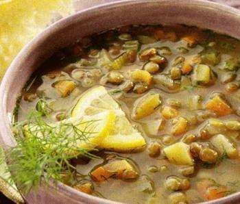 Грецький суп із чечевиці
