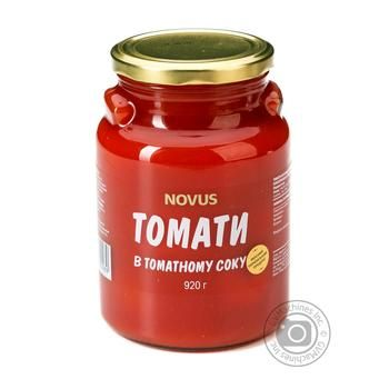 Novus Unpeeled In Tomato Juice Sterilized Tomatoes 920g - buy, prices for Novus - image 1
