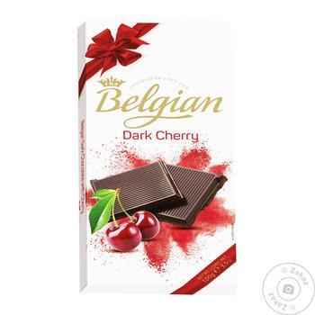 Шоколад Belgian темный с вишней 100г