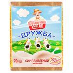 Сыр Varto Дружба плавленый 55% 70г
