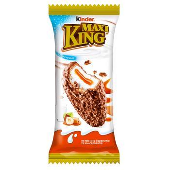 Вафли Киндер Макси Кинг Орехи и Карамель покрытые молочным шоколадом 35г - купить, цены на Фуршет - фото 1