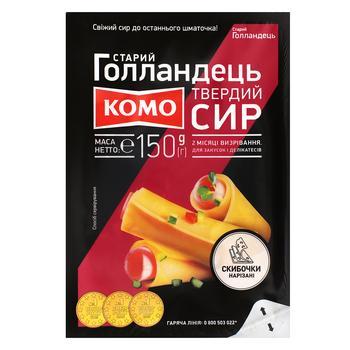 Сыр Комо Старый Голландец твердый нарезанный 45% 150г - купить, цены на Пчёлка - фото 1