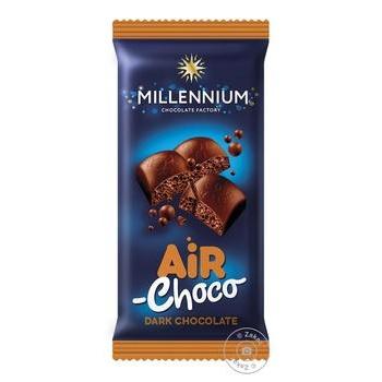 Шоколад Millennium черный пористый 80г - купить, цены на Ашан - фото 2
