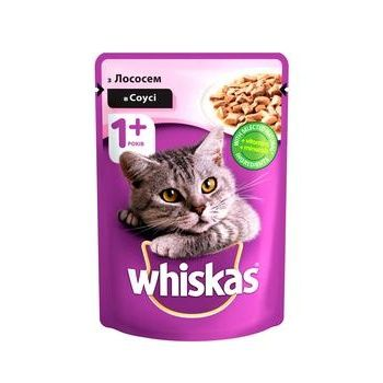 Корм для котов Whiskas с лососем в соусе 100г - купить, цены на ЕКО Маркет - фото 1