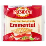 President Emmental Processed Cheese For Toasts 120g