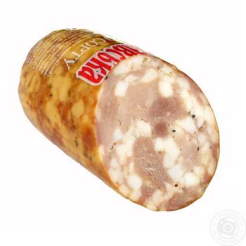 Колбаса Укрпромпостач-95 Переяславская копчено-запеченная высший сорт - купить, цены на Фуршет - фото 2