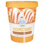 Мороженое Лимо под карамельным соусом в бумажном ведре 500г