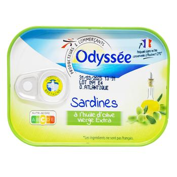 Odyssee Sardine in Olive Oil 135g
