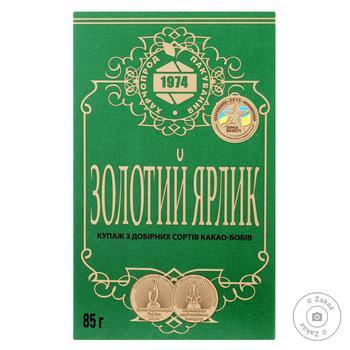 Какао-порошок Золотой ярлык 85г - купить, цены на МегаМаркет - фото 1