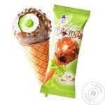 Мороженое Рудь Фисташка рожок 70г - купить, цены на Фуршет - фото 1