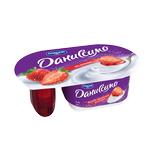 Йогурт Даниссимо Фантазия сливочный 5.3% 95г клубничный наполнитель 27г пластиковый стакан Польша