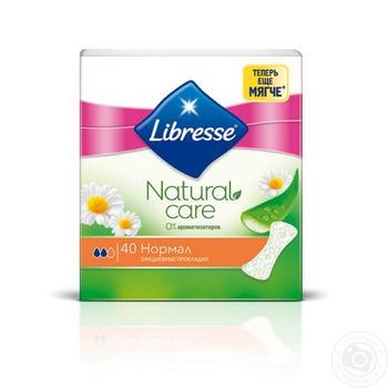 Прокладки щоденні Libresse Natural Care Normal 2 краплі 40шт - купити, ціни на Novus - фото 1