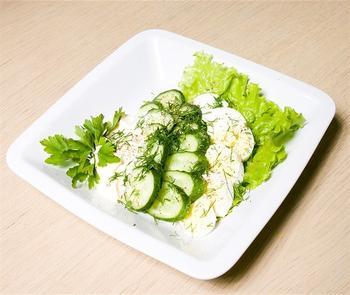 Огуречно-яичный салат