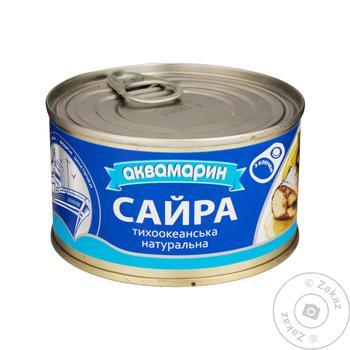 Сайра Аквамарин натуральная с добавлением масла 230г - купить, цены на Novus - фото 2