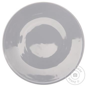 Тарілка порцеляна плоска Каліфорнія Farn Grey 210мм - купить, цены на Novus - фото 1