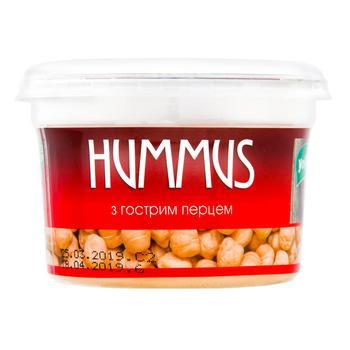 Закуска YoFi! Hummus Средиземноморская с острым перцем 250г - купить, цены на Novus - фото 1