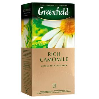Чай Greenfield травяной Ромашка в пакетиках 25пак 37,5г - купить, цены на Novus - фото 1