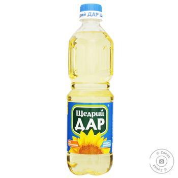 Oil Schedry dar sunflower refined 500ml plastic bottle - buy, prices for Novus - image 1