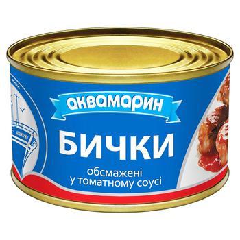 Бички Аквамарин обжаренные в томатном соусе 230г - купить, цены на Ашан - фото 2