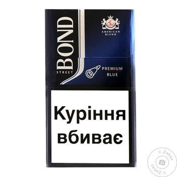 Сигареты Bond Street Premium Blue - купить, цены на Фуршет - фото 1