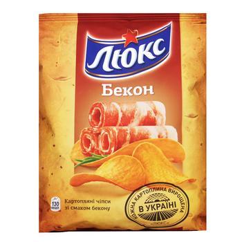 Чіпси Люкс бекон 80г Україна