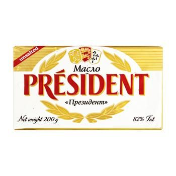 President Unsalted Sour Cream Butter 82% 200g