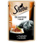 Корм Sheba влажный для кошек индейка в желе 85г