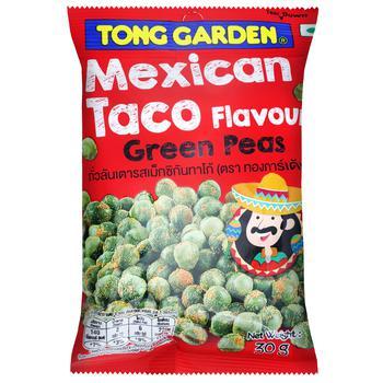 Снек Tong Garden Горох зеленый мексиканский тако 30г