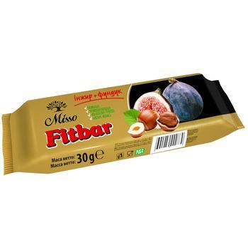 Батончик Misso Fitbar інжир+фундук 30г