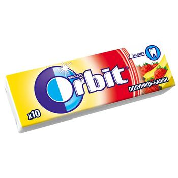 Резинка жевательная Orbit Клубника-Банан 13,6г - купить, цены на Восторг - фото 1