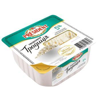 Сир кисломолочний President Творожна традиція 5% 350г - купити, ціни на ЕКО Маркет - фото 1